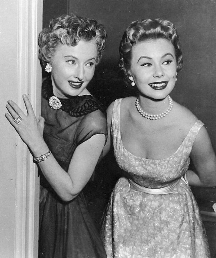 Barbara Stanwyck and Mitzi Gaynor - Met with Mitzi many times, she was always extremely pleasant and openly emotional with me! Thanks Mitzi ♥