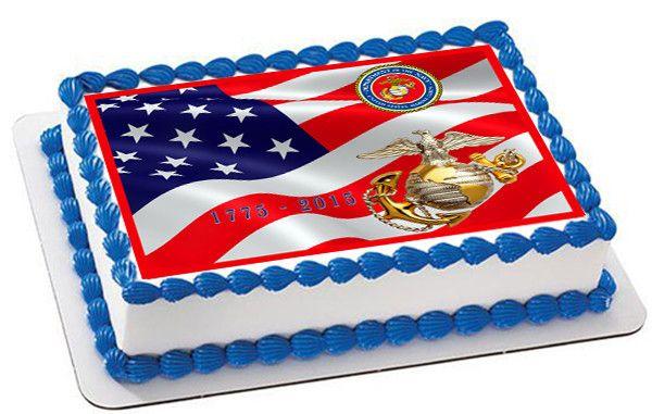 Marine Birthday Cake Photo