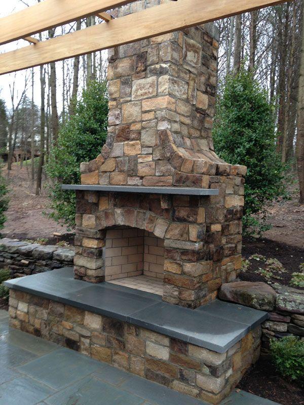 Flagstone Patio & Retaining Wall Designs   Masonry ... on Patio Stone Wall Ideas id=67890