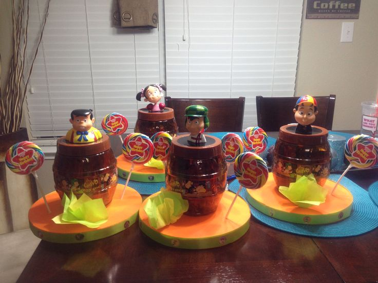 Chavo del 8 centerpieces- MAYBE FOR MY OLDEST's 18th BIRTHDAY.