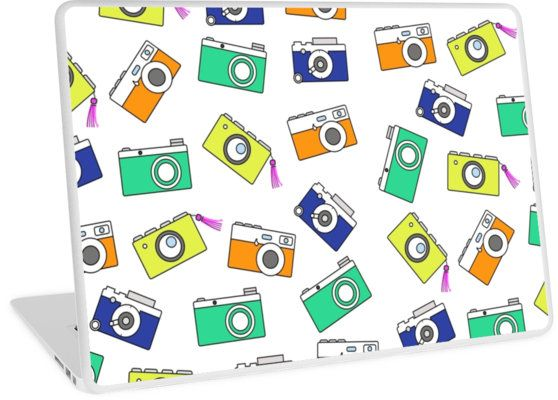 Retro Camera by Linecircle Co #laptop #mac #macbook #case #skin #camera #pattern #redbubble #linecircle #LinecircleStationary