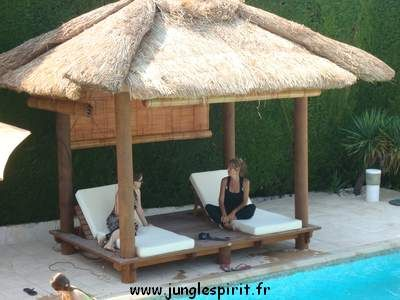 Jungle spirit gazebos paillotes meubles et d coration for Bambou interieur deco