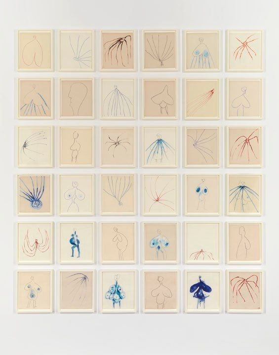 "Louise Bourgeois, ""THE FRAGILE"", 2007, Archival dyes on fabric, in 36 parts 10"" x 8"" inches (each), Courtesy of the artist, Gallery Paule Anglim, San Francisco and Cheim & Read, New York; Photo courtesy of Cheim & Read, New York"