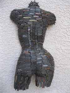 Abstract Wall Art Modern Sexy Metal Female Sculpture Nude Torso by Holly Lentz   eBay