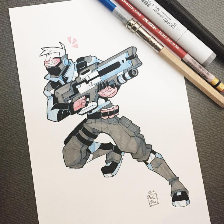 Inktoberwatch Day 4 The Team S Resident Dad Overwatch Drawings Character Design Overwatch