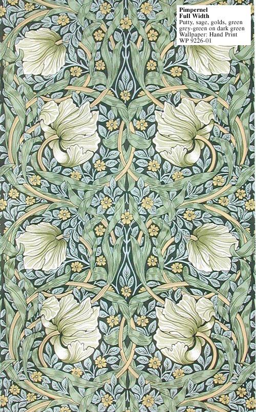 Wallpaper, Pimpernel I, William Morris, 1876