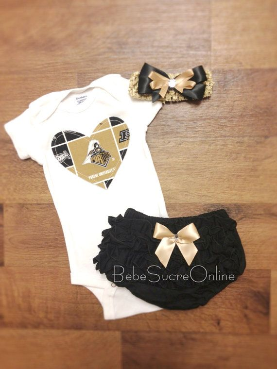 Purdue University Outfit and Headband by BebeSucreOnline on Etsy