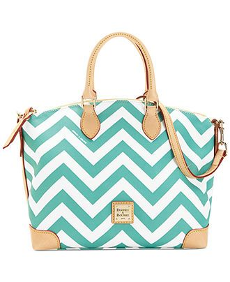 Dooney & Bourke Chevron Satchel - Satchels - Handbags & Accessories - love it, want it in black.
