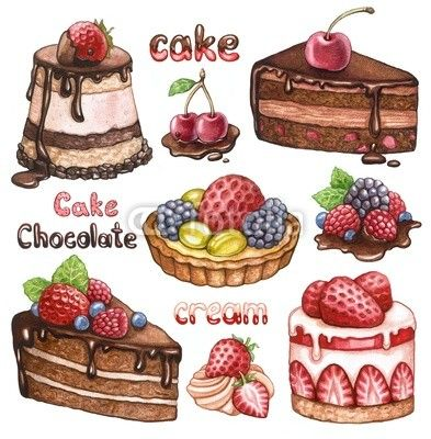 watercolor cupcakes - Google Search