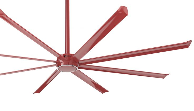 Essence ceiling fan in red. #essence #bigassfans #ceilingfan