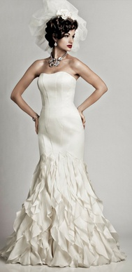 For the Diva! Matthew Christopher Wedding Gown Dahlia #nordstromweddings