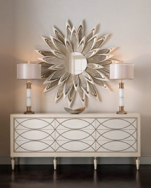 Rectangular drawers console table