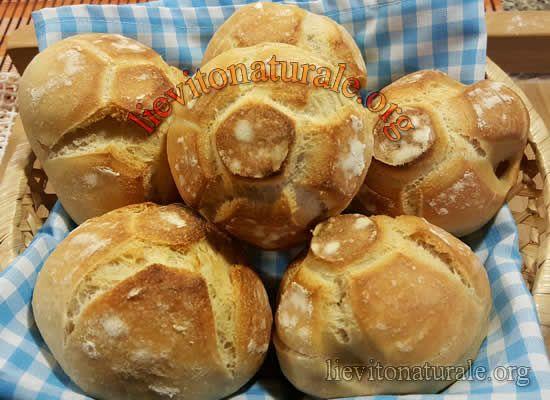 Panini Rosette soffiate con Lievito Naturale o Pasta Madre e Farina Macinata a Pietra