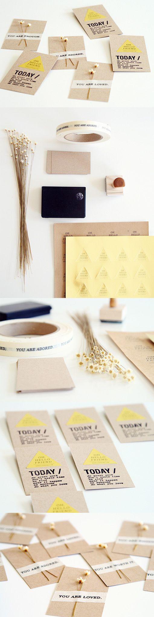 Creative DIY Handmade Business Card Design