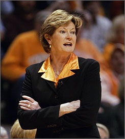 Pat Summitt. A fantastic coach whose record will stand for years. Yet, as good a coach as she was, she is a better, more courageous person.