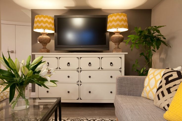 A few big pieces of furniture can actually make a small room look bigger #IncomeProperty #DesignTip