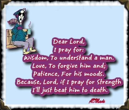 Prayer for a man , Maxine style
