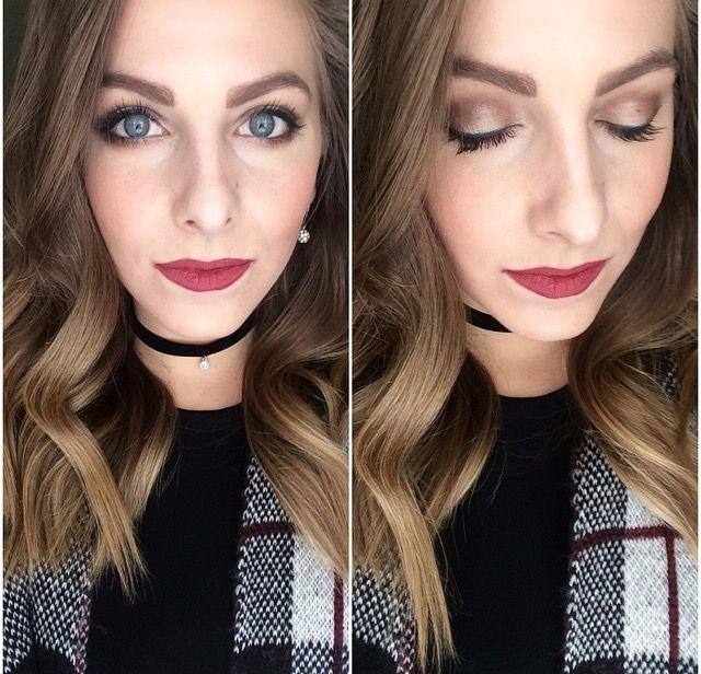 All Younique using: Addiction Palette 1 Splurge Cream Shadow in Victorious Sleek Lip Stain with Soulful Splash Liquid Lipstick on top  #makeup #motd #smokeyeye #makeuptips #makeuptricks #tutorial
