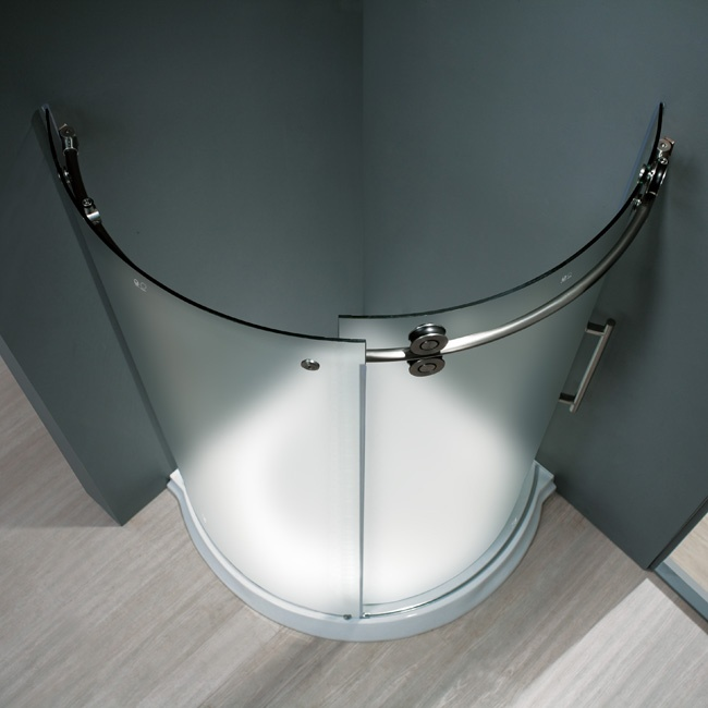 VIGO 36 X 36 Round Shower Enclosure   Frosted Glass VG6031
