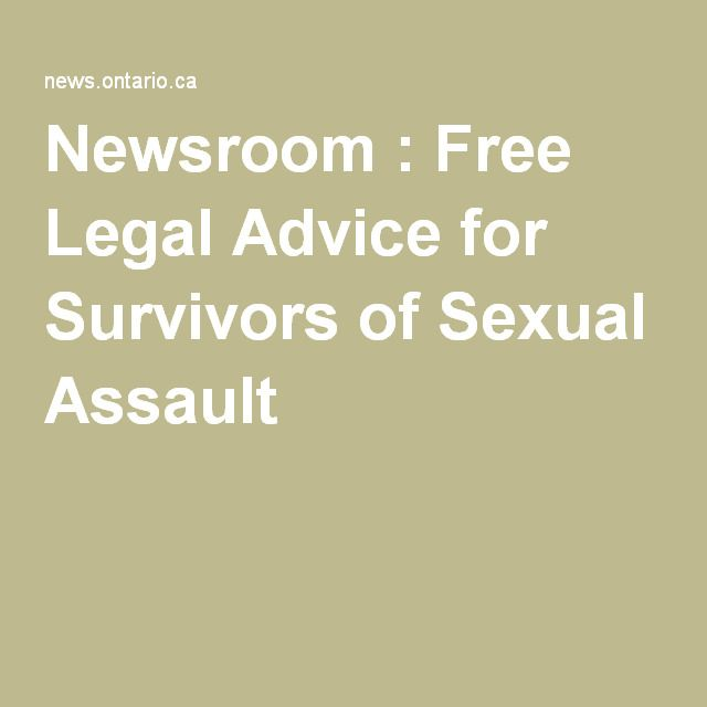 Free Legal Advice for Survivors of Sexual Assault