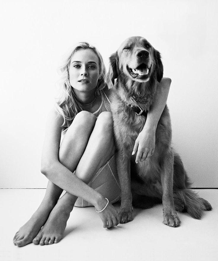 Celebrity photography at DuJour magazine. Beautiful Diane Kruger!
