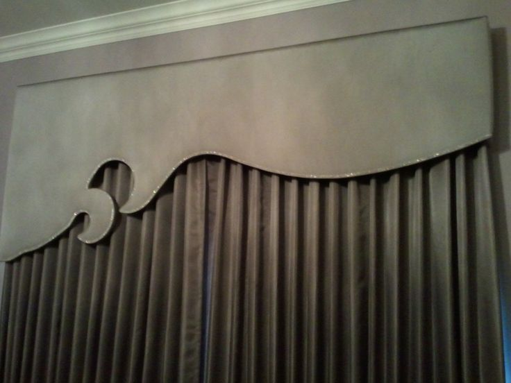 Classic drapes with crystal adorned headboard!
