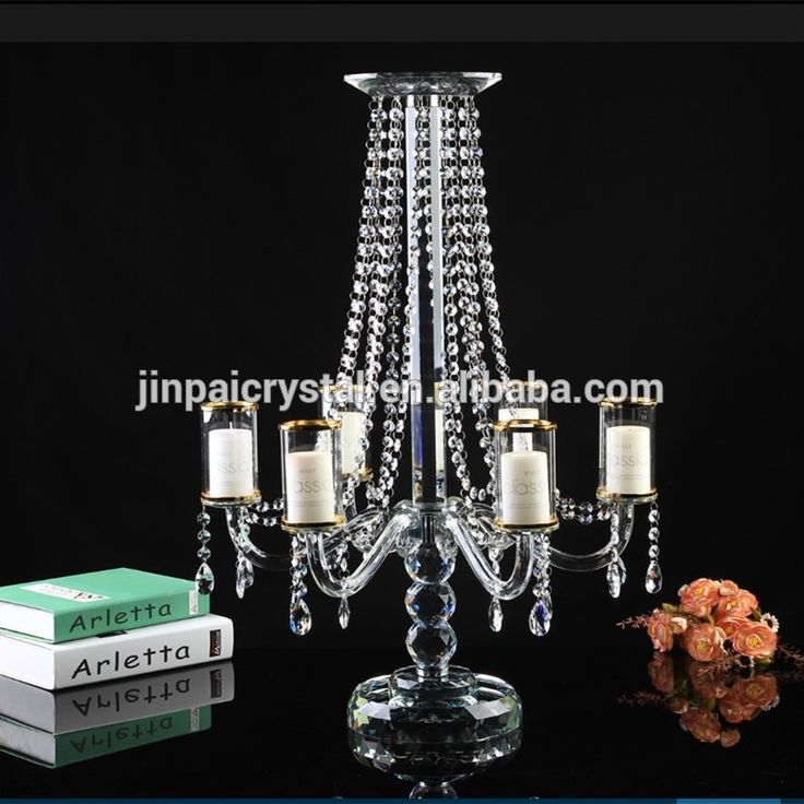 Handmade and Weddings Use flower bowl stand candelabra for wedding decoration crystal candelabra centerpieces wedding