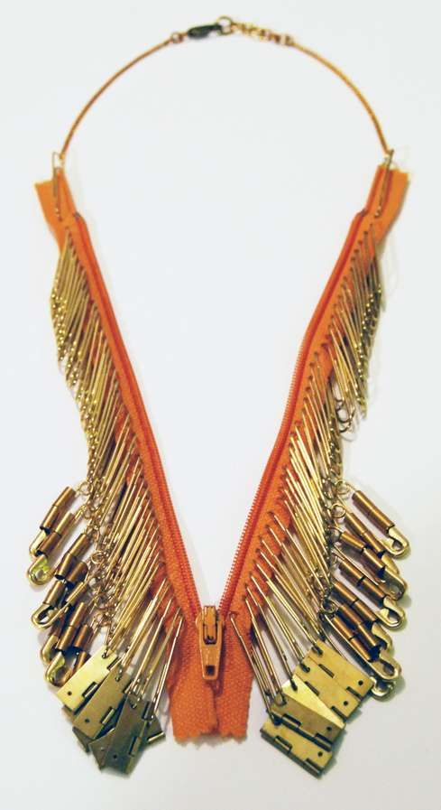 The Hur Jewelry Zipper Necklace Channels a Native American Aesthetic #statement #necklaces trendhunter.com