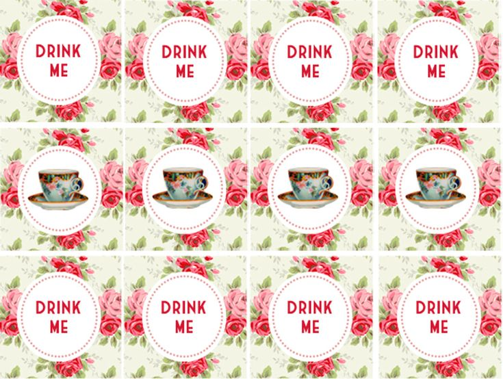 18 best images about alice party on pinterest party for Alice in wonderland tags template