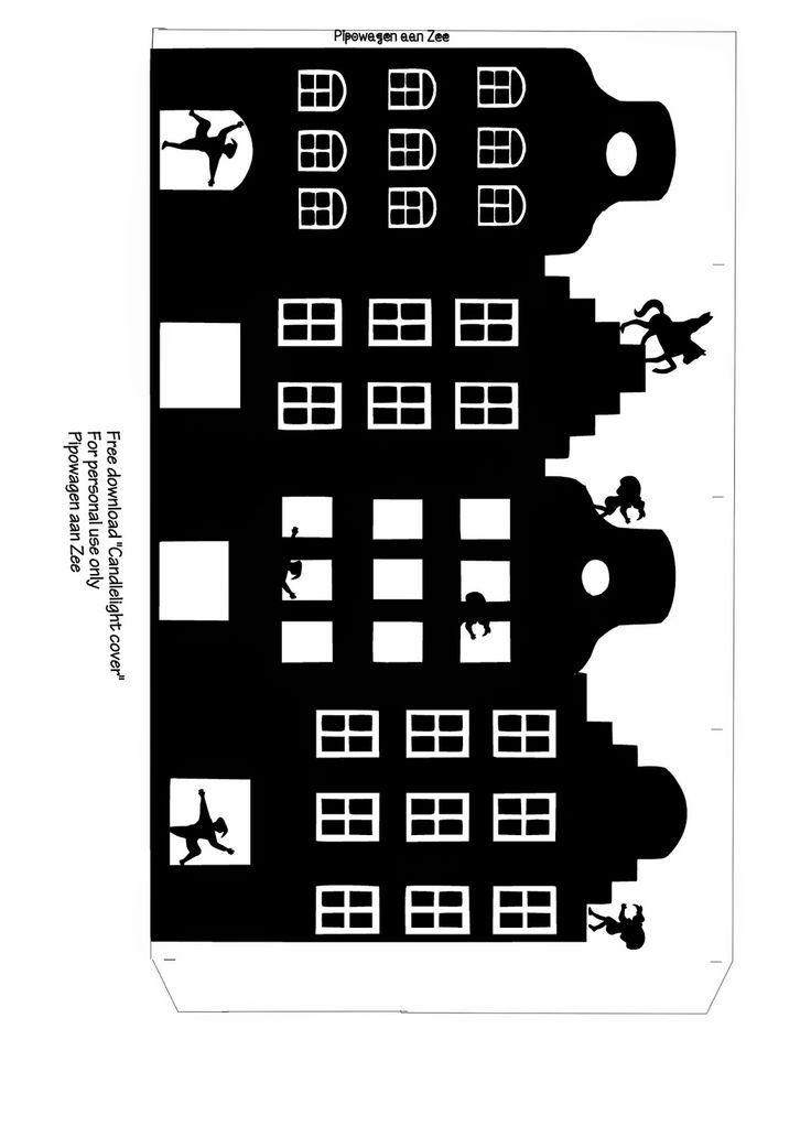 Pipowagen aan Zee: DIY Free download tealight cover *Sinterklaas Lichtje*: