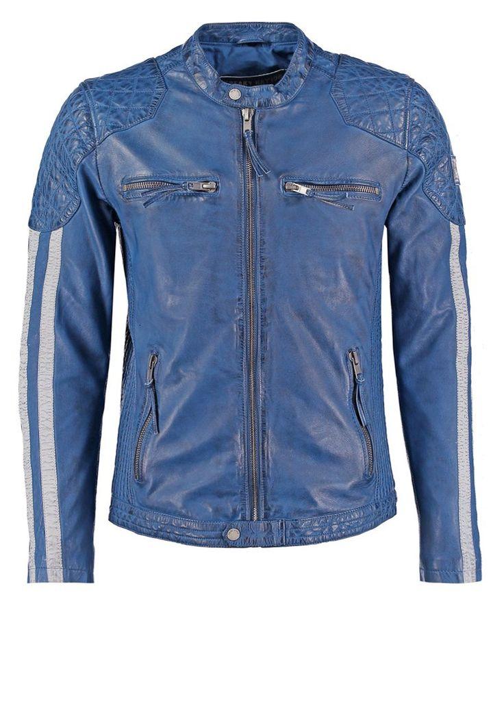 Freaky Nation INDI Kurtka skórzana ocean 969.00zł #moda #fashion #men #mężczyzna #freaky #nation #indi #kurtka #skórzana #ocean #męska #niebieski #blue #skóra #przejściowa #jesienna #wiosenna