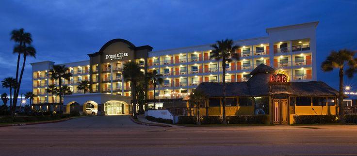 DoubleTree by Hilton Hotel Galveston Beach Hotel, TX - Hotel Exterior at Dusk