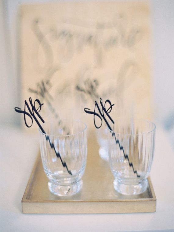 custom drink stirrers | Wedding & Party Ideas | 100 Layer Cake