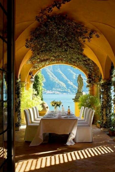 Patio View, Lake Como Italy