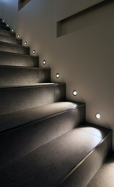 Resultat d'imatges de stairs light projection