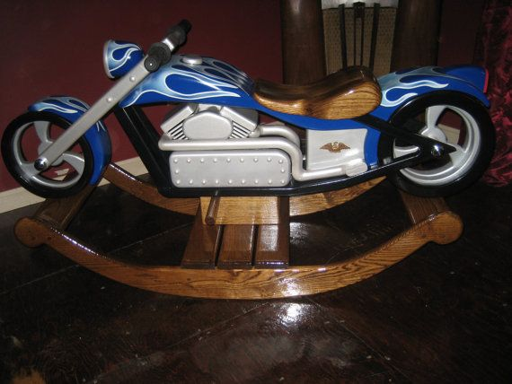 A little boys dream rocker~Chace The Chopper  Custom Designed Wooden by TrottWoodCreations, $3500.00