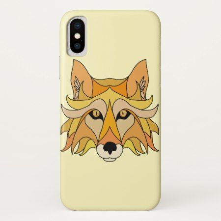 Fox Face iPhone X Case - tap, personalize, buy right now!