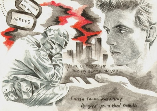 Beautiful Mika fan art for his song Heroes