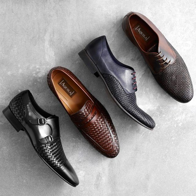 Weaving into October in Walton Black, Sena Brown, Reedus Navy, Reedus Tan.  #AquilaStyle #MensShoes #Loafer #SuitGame