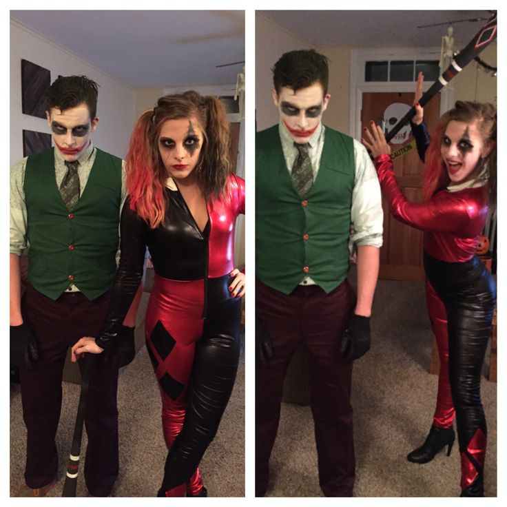 The Joker and Harley Quinn couples Halloween costume
