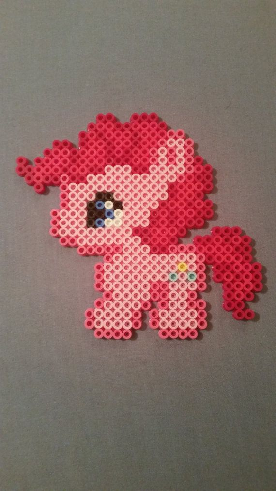 These perler bead figures are based on the very popular My Little Pony series! The ponies can be made into magnets that would look perfect on your