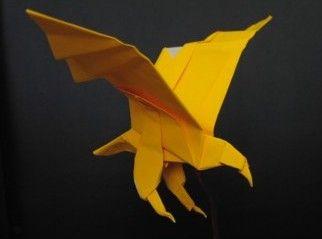 origami eagle tutorial  http://www.angelfire.com/ks3/origamikong/Photo_diagrams_Eagle2.html