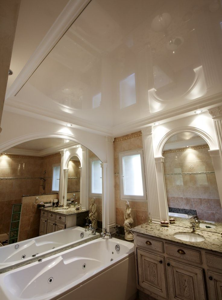 182 best Faux plafond design moderne images on Pinterest - faux plafond salle de bain