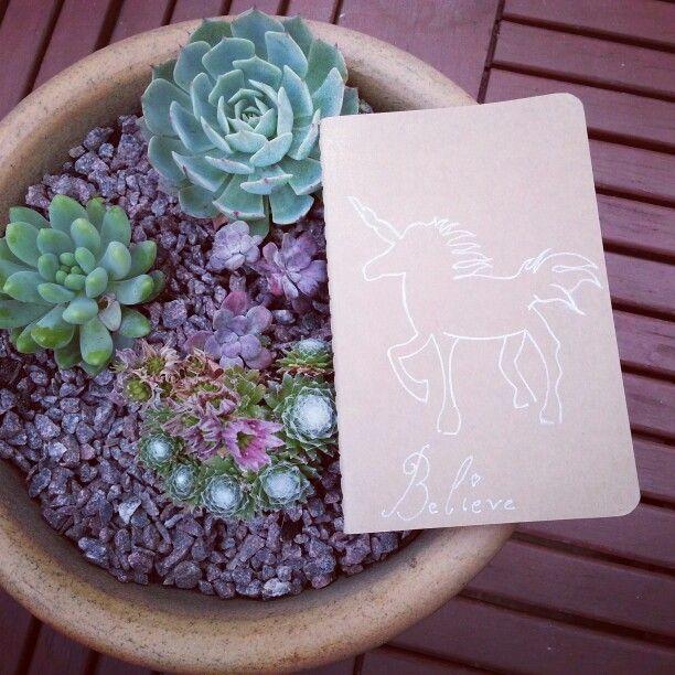Cute Unicorn moleskin notebook for sale on our etsy shop - https://www.etsy.com/listing/203584551/believe-in-unicorns-silver-drawn-unicorn