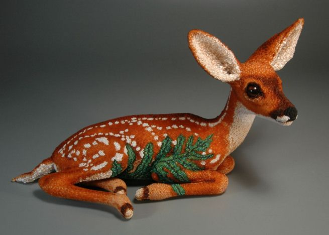 """Grigsby Beadwork - """"Fawn (Hide)"""" view 1"""