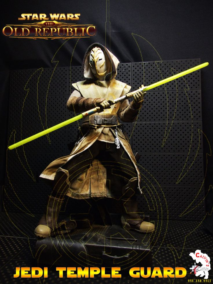 "Calvin's Custom One Sixth Scale Starwars The Old Republic ""JEDI TEMPLE GUARD"" custom figures"