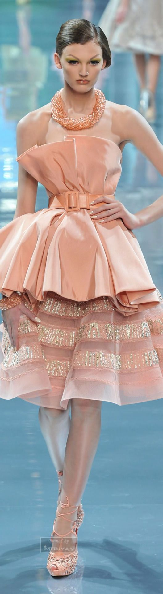Christian Dior Couture F-08: blush ensemble.