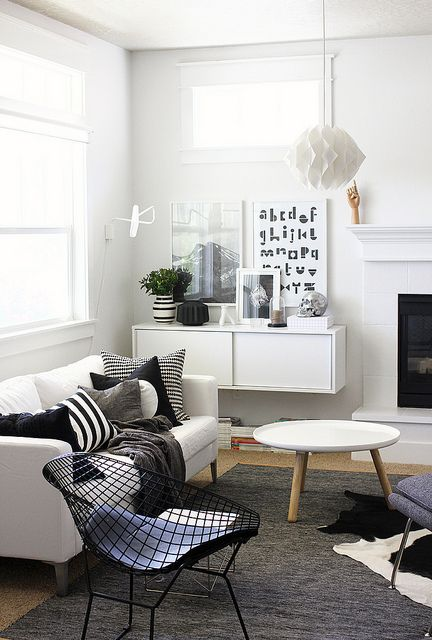 scandinavian interior - black & white