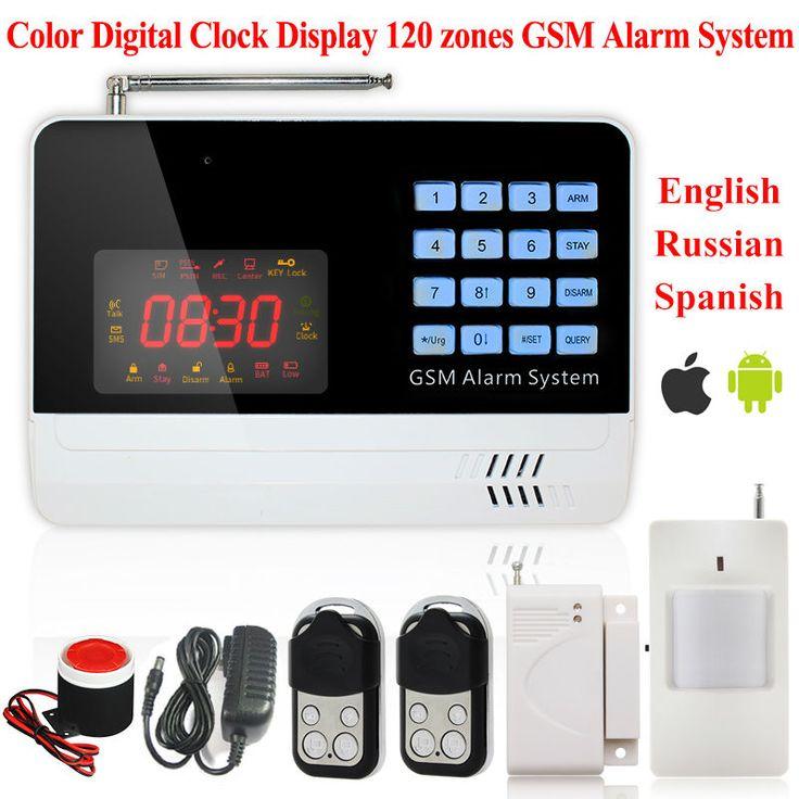 Nueva APP Control Digital Sin Hilos atado con alambre antirrobo Casa Sistema de Alarma GSM Ladrón de la Seguridad Auto del Sintonizador SMS del Teléfono Check equilibrio