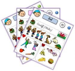 """2 exemples pour apprendre à se présenter en anglais par le jeu : les """"identity cards"""" chez Lutin Bazar et le """"Guess Who ?"""" chez Hasbro"""